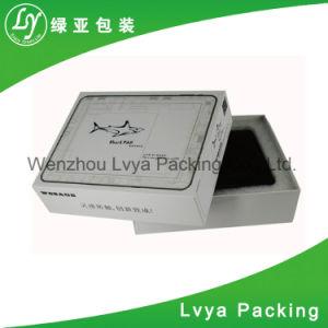 백색 색깔은 포장을%s 서류상 보석 선물 상자를 주름을 잡는다