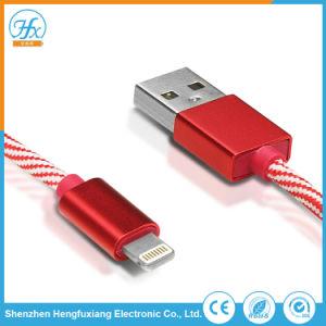 1mワイヤー電光データiPhoneのためのユニバーサルUSBの充電器ケーブル