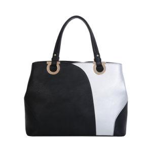 O contraste de cores preto e branco Senhora Tote Bag (MBNO042006)