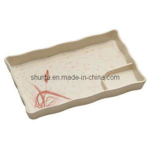 100 % de la mélamine vaisselle-SÉRIE Automne de l'herbe divisé plaque/Dumpling plaque (AGA07)