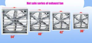 Ventilador Industrial ventiladores de escape de gases de efecto Ventilador Refrigerador Sistema de refrigeración