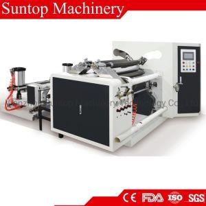 De refendage à grande vitesse et de rembobinage de la machine pour le papier, des étiquettes, l'étiquette de base, un film plastique