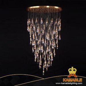 Het moderne Binnen het Hangen van het Huis Decoratieve Licht van het Plafond van de Kroonluchter van het Glas (kac-05r-650)
