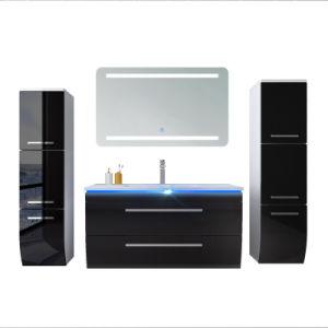 Salle de bains Cabinet Armoire de stockage du bois de style moderne HS-E1908