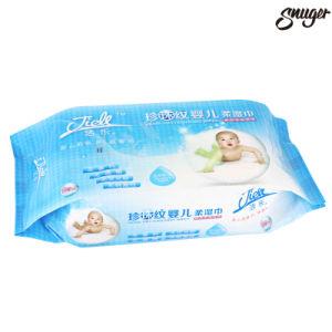 Cuidado de piel de bebé Flushable desechables de tejido húmedo toallitas para niños