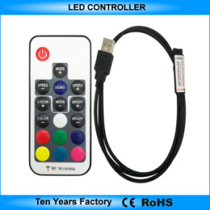 5V SMD 5050 17 CHAVE RF Remote LED RGB Controller USB