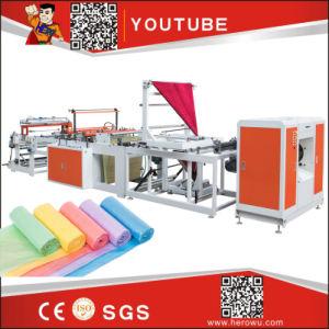 Hero HDPE LDPE PE biodegradables de pollo de Nylon parche de tela de nylon Poly Llevar la basura de polietileno T-Shirt Compras la bolsa de plástico que hace la máquina Precio