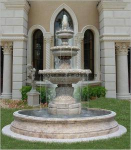 Het marmeren Huis van de Steen van 3 Rij van de Steen Openlucht gebruikte de Eenvoudige Fontein van het Water in Levering voor doorverkoop