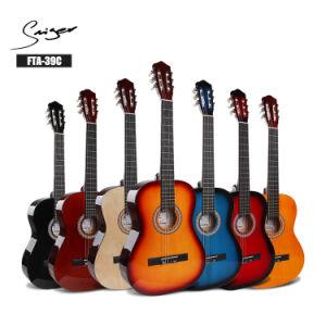 Las cadenas de nylon de 39pulgadas personalizados Viajes eléctrico Guitarra clásica española Guitarra Clásica