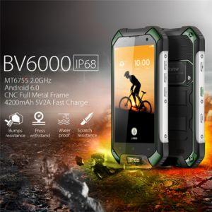 Téléphone intelligent Blackview BV6000 4G LTE cellulaire étanche résistant aux chocs