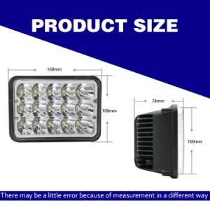 工場供給の天使はWorklight 4*6inch 45W LEDのヘッドライト4X4を注目する