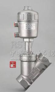 Valvola pneumatica della sede di angolo del setaccio del filetto Y dell'acciaio inossidabile del metallo