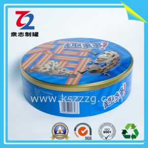PVC 투명한 뚜껑, 금속 주석을%s 가진 둥근 주석 상자