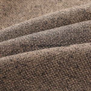 Tessuto di tela 100% di sguardo del poliestere per il tessuto da arredamento del sofà