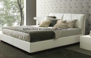 معاصرة [ووودن فرم] إيطاليا جلد سرير لأنّ غرفة نوم