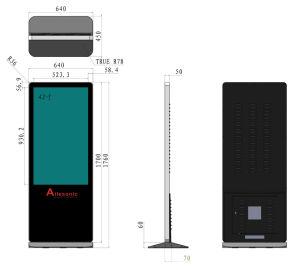Plancher de 42 pouces lecteur multimédia de réseau permanent de la publicité, , Écran LCD couleur intérieure de la signalisation numérique, écran vidéo à LED