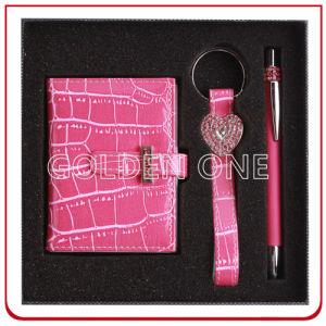 주문 Leather Key Holder 및 Wallet Gift Set