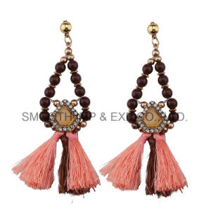 Lange Troddel-Farbe bördelt ethnische Ohrring-Form-Frauen-Nachahmung-Schmucksachen
