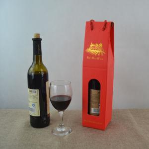 Rojo de alta calidad caja de regalo papel de embalaje Caja de vino