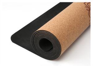 El corcho de goma natural Estera Del Yoga Antideslizantes ecológica 183cm x 68 cm Pilates