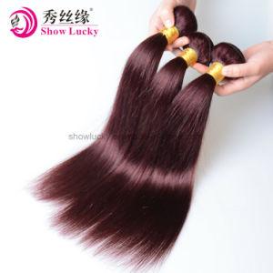 ブラジルの毛の織り方は着色された赤い99jバーガンディ10-24のインチを編むまっすぐな人間の毛髪を束ねる