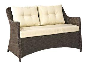ホーム家具の現代屋外の藤または枝編み細工品のソファーの余暇の庭の家具