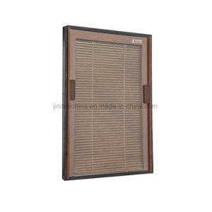 Entre el cristal de plantaciones de persianas de aluminio contraventanas de madera de imitación de las puertas para Windows