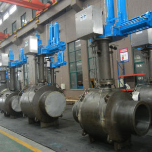 ASME полностью сварной корпус промышленного шаровой клапан