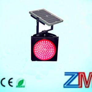 Énergie solaire à haute intensité rouge clignotant Témoin de trafic