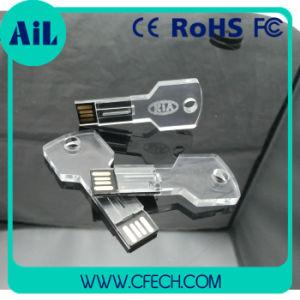 Новые акции акриловый ключ USB флэш-диска