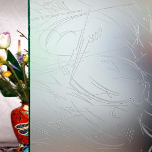 Het decoratieve Duidelijke Gebrandschilderd glas van de Kunst voor de Bouw