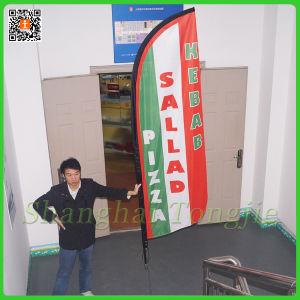 Печать Tongjie гигантские пуховые Бич флаг для продвижения по службе (TJ-BF0034)