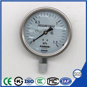 ステンレス鋼が付いている1.5MPa衝撃の証拠の圧力計の圧力計