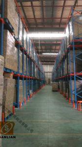 Sanlian Lager-Speicher-Laufwerk durch Ladeplatten-Racking-Regale
