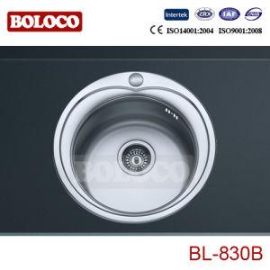 Fregadero de acero inoxidable (un solo recipiente redondo, diámetro de 490mm) Bl-830b