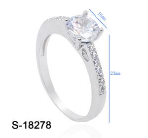 간단한 적당한 보석 도매를 위한 입방 지르코니아 숙녀 약혼 반지