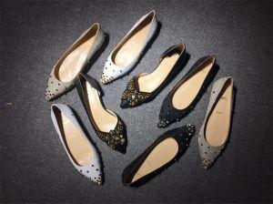 Las mujeres de la marca plana Casual Zapatos elegantes Mocasines de cuero auténtico