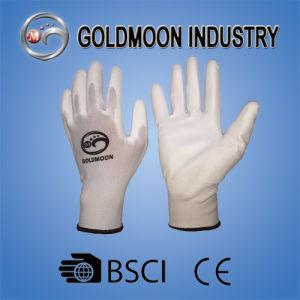 13GポリエステルライニングPUは安全作業手袋に塗った