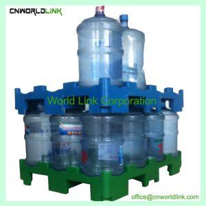 수송 플라스틱 Bucket/5 갤런 병 HDPE/Water 병 깔판을 겹쳐 쌓이는 플래트홈
