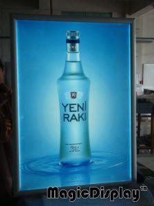 広告はフレームLEDのビールのための細いライトボックスポスターホールダーの印を止める