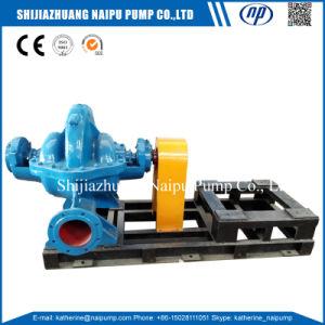 A dupla do motor eléctrico de sucção da bomba de água da caixa do grupo axialmente