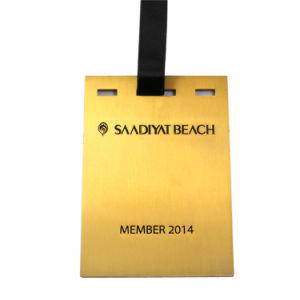 Viajes personalizados promocionales Logo 3D de plástico de PVC blando Etiqueta de Equipaje