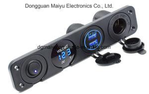 2.1A&2.1A LEDの電圧計12Vのパワーアウトレットのオンオフのトグルスイッチ