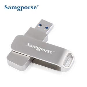 60ГБ портативный твердотельный накопитель USB 3.0/3.1 Ультра тонкий Внешний твердотельный жесткий диск с высокой скоростью записи/чтения до 350/450Мбит/с, серебристый алюминий