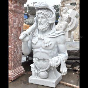 La taille de la vie homme Buste statue en marbre de la tête (GSBST-118)