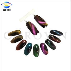 Мода магнитных 3D-Cat Eye порошок Chameleon цвет переключение пигмент лак для ногтей искусства