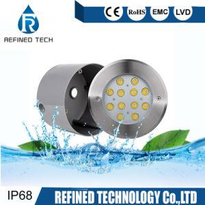 IP68 de alta potencia 15W 1500LM de acero inoxidable 316L LED empotrado bajo el agua de la luz de la piscina