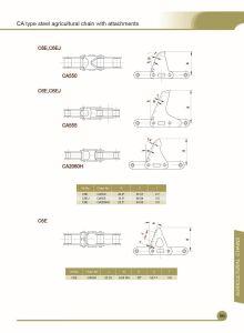 Ca550-C6e, Ca550-LV41n, Ca550 CPE를 위한 농업 컨베이어 롤러 사슬