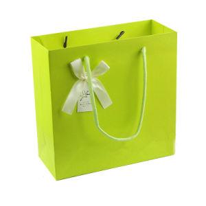 Papier recyclé personnalisé un sac de shopping pour emballage (YH-PGB071)