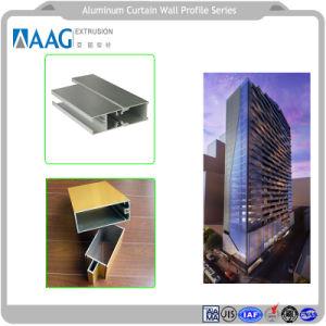 Perfil de aluminio de suministro de fábrica para la construcción de muro cortina de vidrio